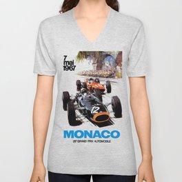Monaco 1967 Grand Prix Unisex V-Neck