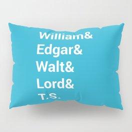 Poet Names Pillow Sham