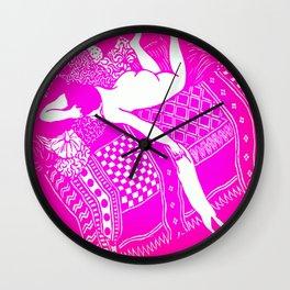 La Paresse (Laziness) by Félix Vallotton  Hot Pink Wall Clock