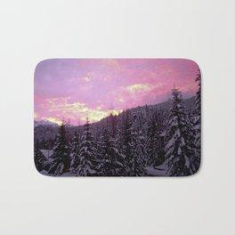 Whistler Winter Sunset Bath Mat