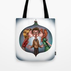 Boy's Mistletoe Surprise Tote Bag