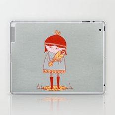 girl holding a bird Laptop & iPad Skin
