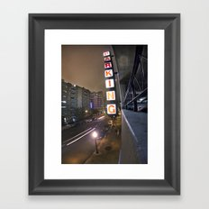 Up A Level Framed Art Print