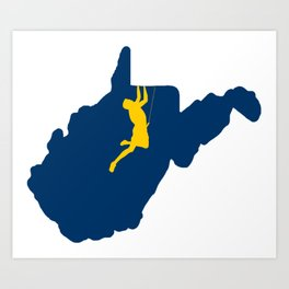 West Virginia Climbing Art Print