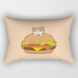 Neko Burger Rectangular Pillow