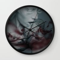 the cure Wall Clocks featuring Cure by Imustbedead