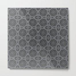 Sharkskin Doily Floral Metal Print