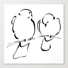 Bird Couple Canvas Print