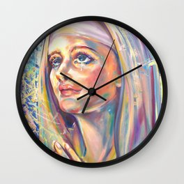 Saint Clare of Assisi, potrait Wall Clock