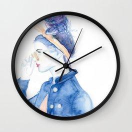 Amber Galaxy Wall Clock