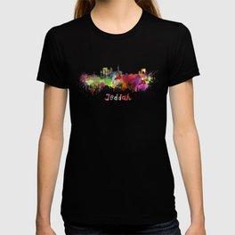 Jeddah skyline in watercolor T-shirt