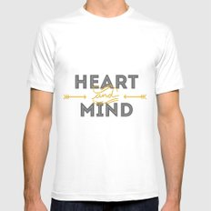 Heart and mind Mens Fitted Tee White MEDIUM