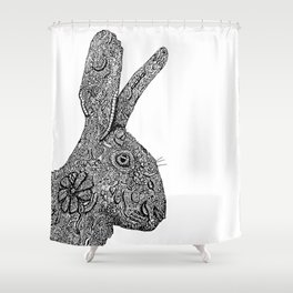 Hare Zentangle Shower Curtain