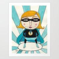 Superheroine Art Print