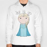 frozen elsa Hoodies featuring Elsa: Frozen  by Jen Talley