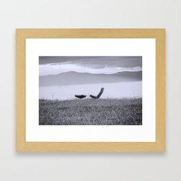 Iceland Lake Break Framed Art Print