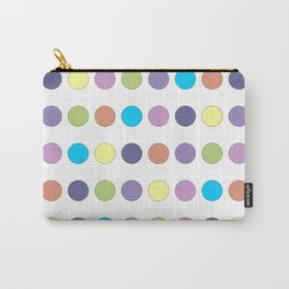 Pastel Polka Dots Carry-All Pouch