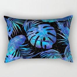 Space Leafs Pattern Rectangular Pillow
