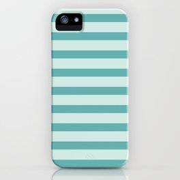 Turquoise Beach Stripes iPhone Case