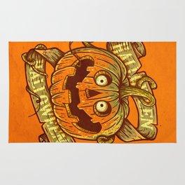 Halloween orange Rug