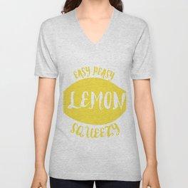 easy peasy lemon squeezy Unisex V-Neck