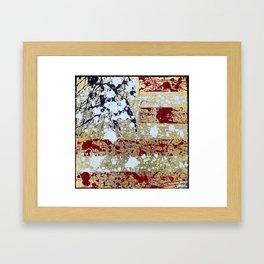 """""""Splattered Flag"""" Framed Art Print"""