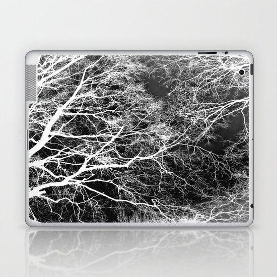 White on Black Trees Laptop & iPad Skin
