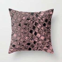 Metallic Bridal Rose Throw Pillow