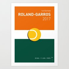 MY GRAND SLAM 02 ROLANDGARROS 2017 MINIMAL POSTER Art Print