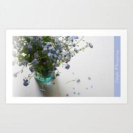 Blue in blue Art Print