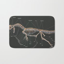 Dilophosaurus Wetherilli Skeleton Study Bath Mat