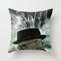 chemistry Throw Pillows featuring Chemistry by ktubalcain