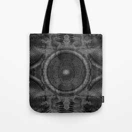 Black and white music speakers Tote Bag
