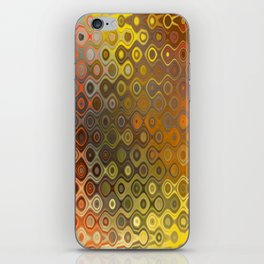 Wobbly Dots in yellow-orange iPhone Skin