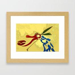 Icebox Dragon Framed Art Print