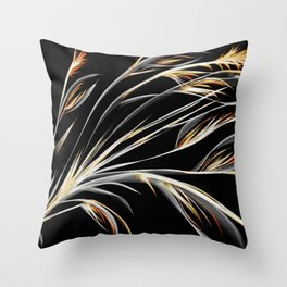 Bird of Paradise Floral Abstract Throw Pillow