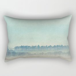 Teal Trees Rectangular Pillow