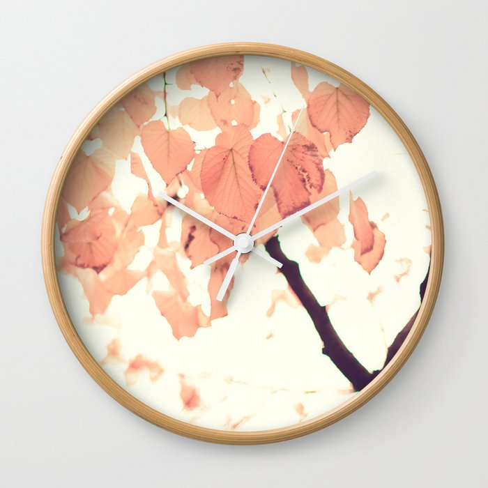 Pink autumn Wall Clock