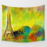 eiffel Wall Tapestries featuring Eiffel by Alexandre Reis