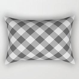 Diagonal buffalo check black Rectangular Pillow