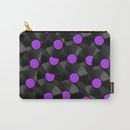 Vinyl Records Pattern (Purple) Carry-All Pouch