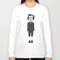 edgar allan poe Long Sleeve T-shirts featuring Edgar Allan Poe by Korey Leach