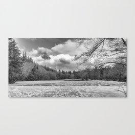 Frozen Lake Panorama Canvas Print