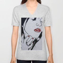 Who's that Girl - White Unisex V-Neck