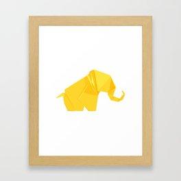 Origami Elephant Framed Art Print