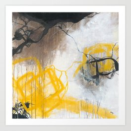 Tension - Square Abstract Expressionism Art Print