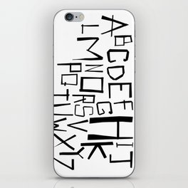Alphabet #2 iPhone Skin