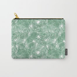Palm frond tropical vacation green white house plant gender neutral natural organic garden island Carry-All Pouch