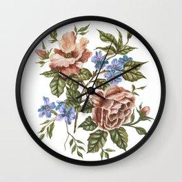 Rustic Florals Wall Clock