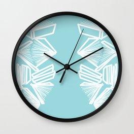 Bookworm Blue Wall Clock